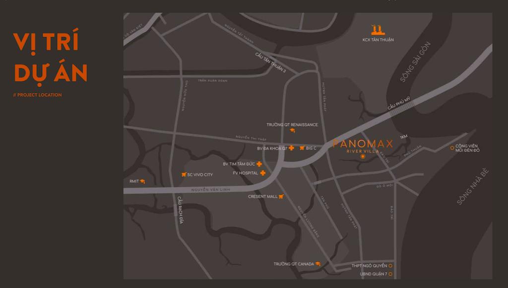 Panomax River Villa:vị trí