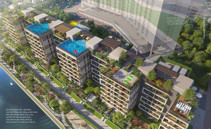 dự án Panomax river villa: hồ bơi