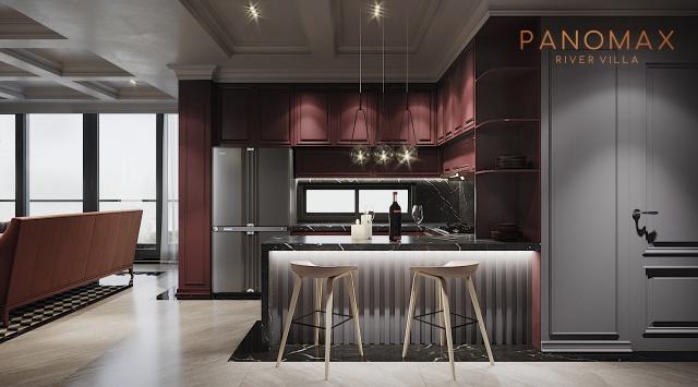 Panomax river villa:phòng bếp