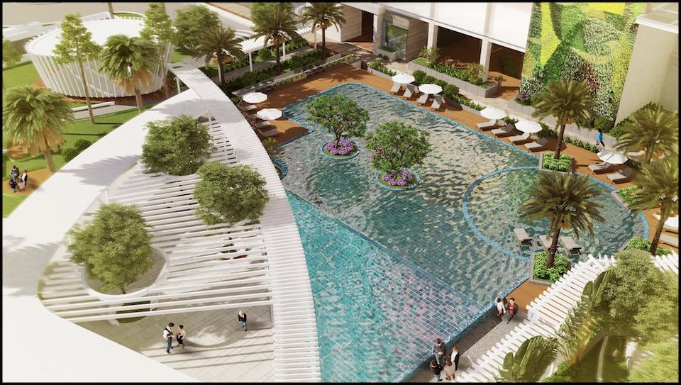 dự án charmington iris:hồ bơi