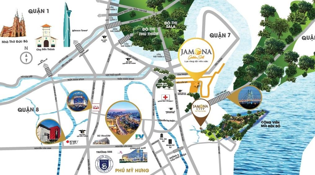 jamona gold silk:vị trí